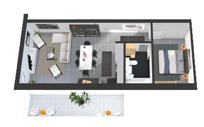 Apartamente cu 2 camere Gardenia Residence