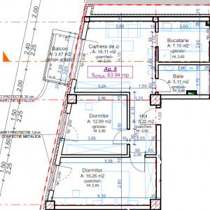 Apartamente noi cu CF, 3 camere, zona Facultatii D. Cantemir North Side Residence